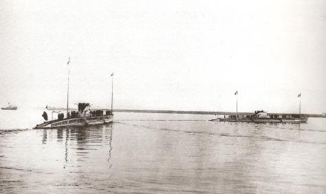 Sous-marins Requin et Souffleur lors de la revue navale de Cherbourg en 1925