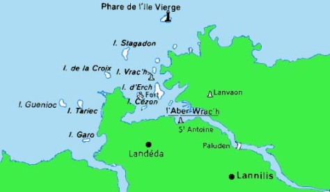 L'Aber Wrach est un fleuve côtier et non une île