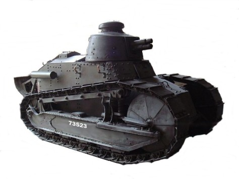 "Le ""char de la victoire"" Renault FT en version canon de 37mm"