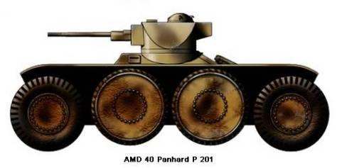 Automitrailleuse puissante AM modèle 1940P