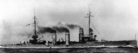 le croiseur léger (Leichte Kreuzer) SMS Pillau
