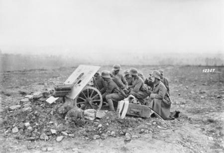 7.5cm Gebirgskanone 15 utilisé ici en octobre 1918 pour l'appui de l'infanterie