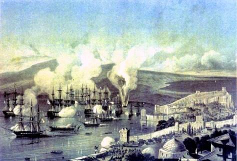 Bataille de Sinope qui ouvre la guerre de Crimée