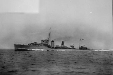 Le HMS Codrington, flottilla-leader des type A