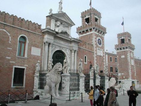 L'entrée de l'Arsenal de Venise
