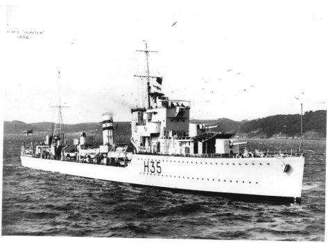 Le HMS Hunter